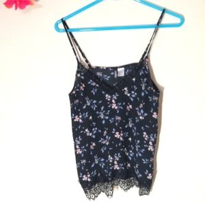 Lacey floral navy camisole